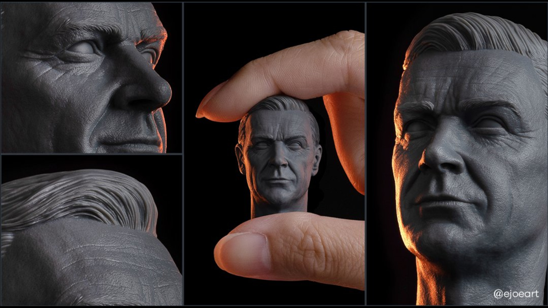 A bust of a man printed on the Phrozen Sonic 8K Mini