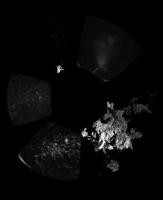 First Comet 67P Panoramic Image by Philae Lander