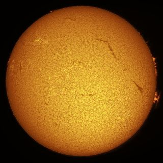 Sun Viewed Through an H-alpha Telescope