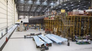 Stratolaunch System's giant aircraft fuselage