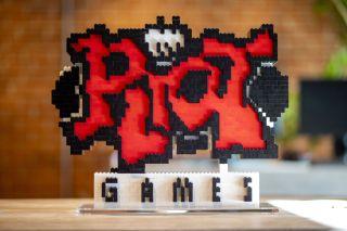 Riot Games logo pixelated