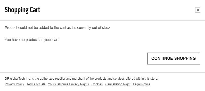 AMD store listing