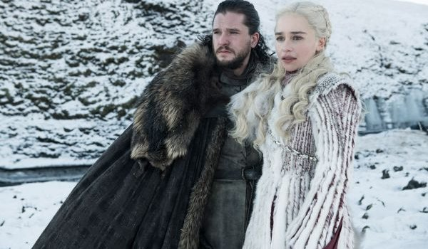 Game of Thrones Jon and Daenerys looking out upon the frozen wastes