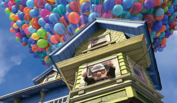 Carl releases balloons in Up