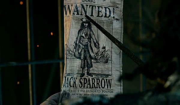 jack sparrow wanted posted pirates of the caribbean 5