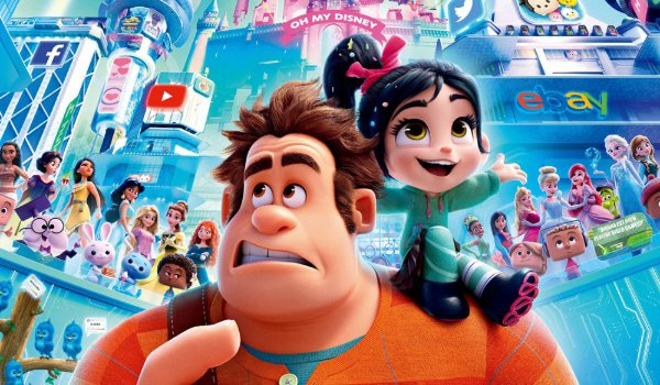 Ralph Breaks The Internet Ralph and Vanellope marvel at the internet