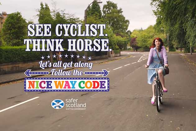 Cycling Scotland See Cyclist, Think Horse campaign