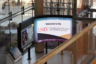 NanoLumens Concave Nixel Series LED Display Helps UNLV Engage Students