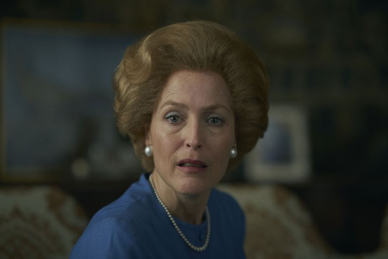 Gillian Anderson has shared the surprisingly simple technique to achieving Margaret Thatcher's iconic expression in The Crown /Netflix