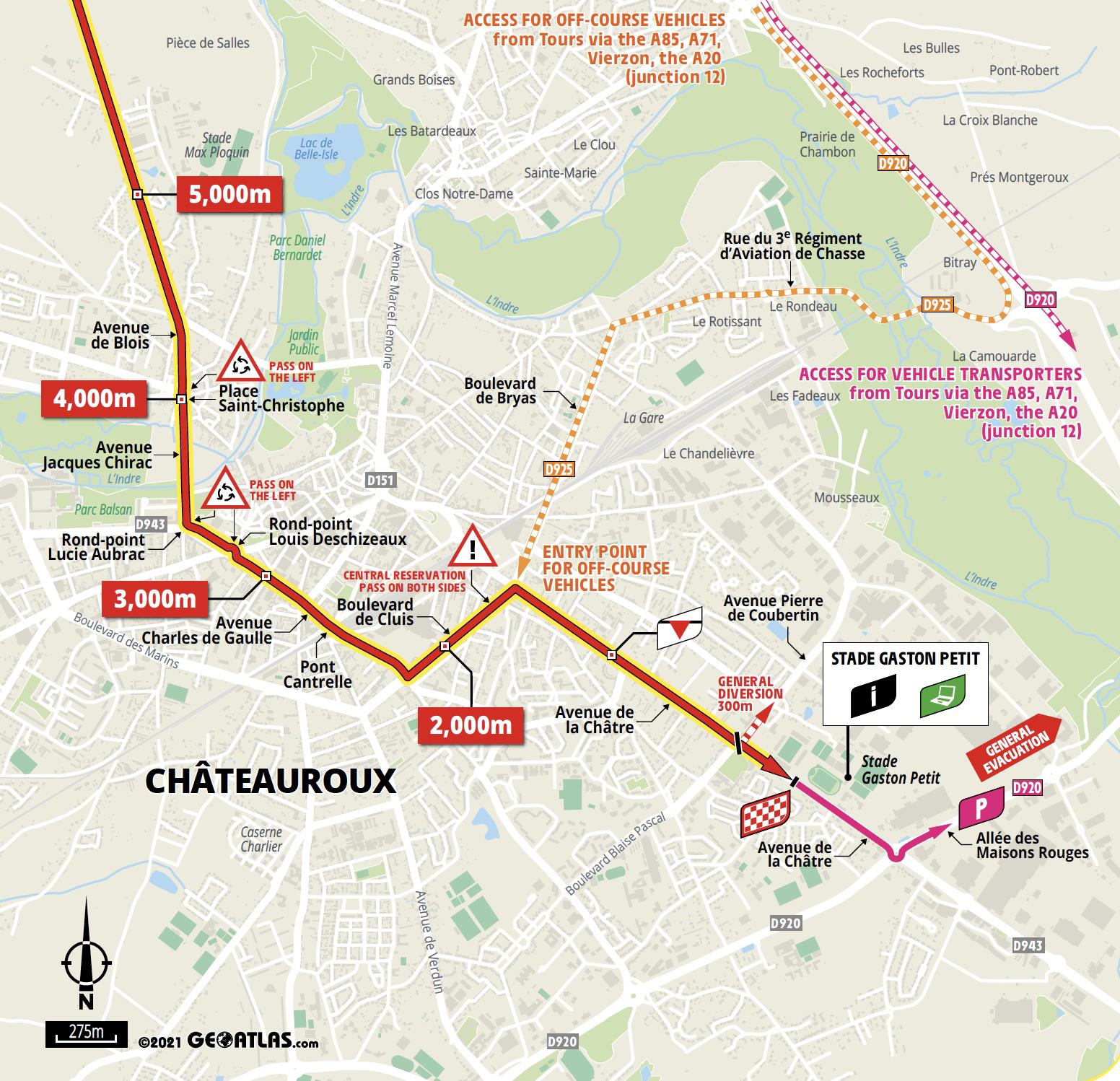 Tour de France 2021 stage 6 last km map