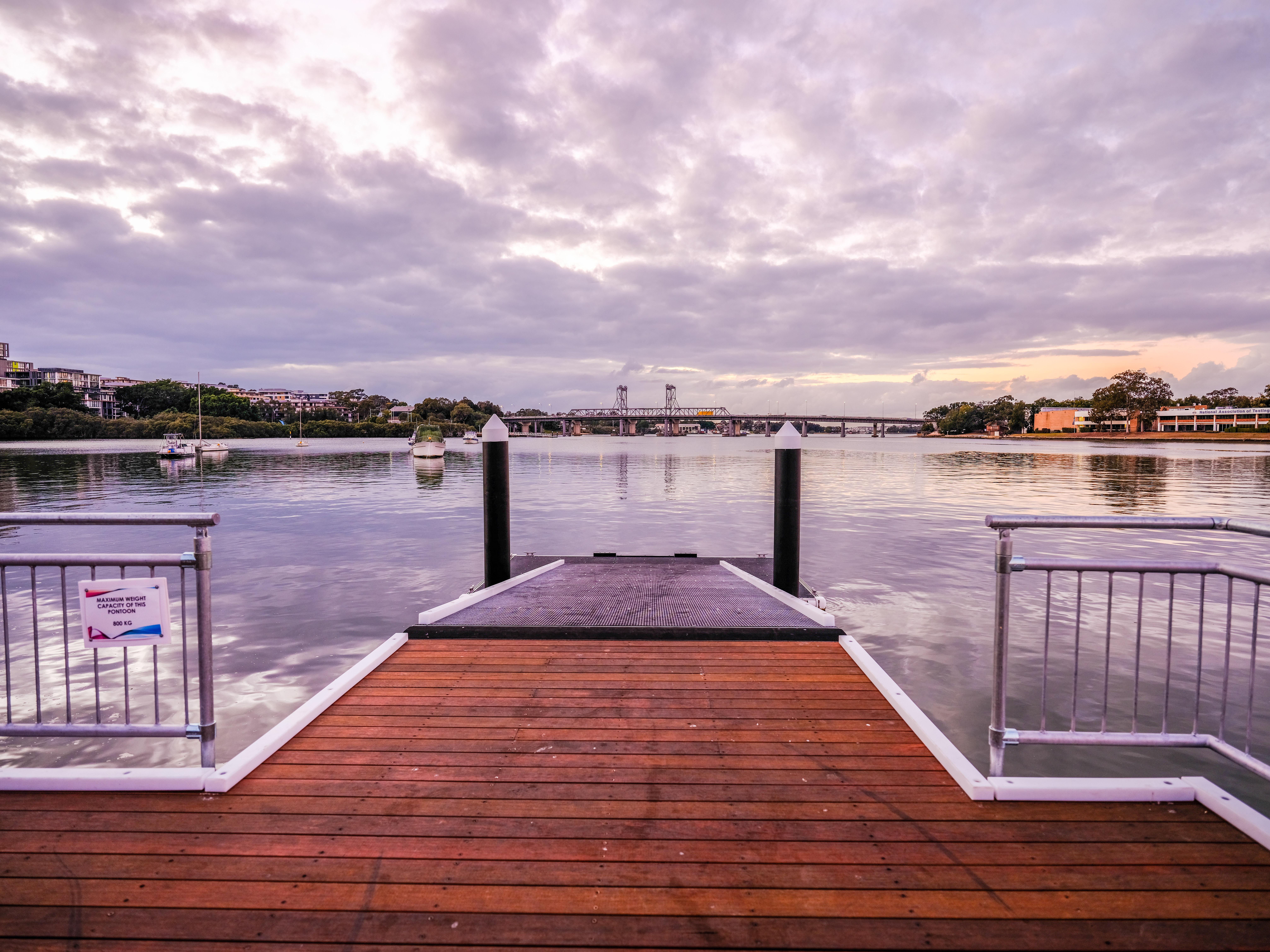 Fujifilm GFX50S II sample shot – a wooden jetty on a river