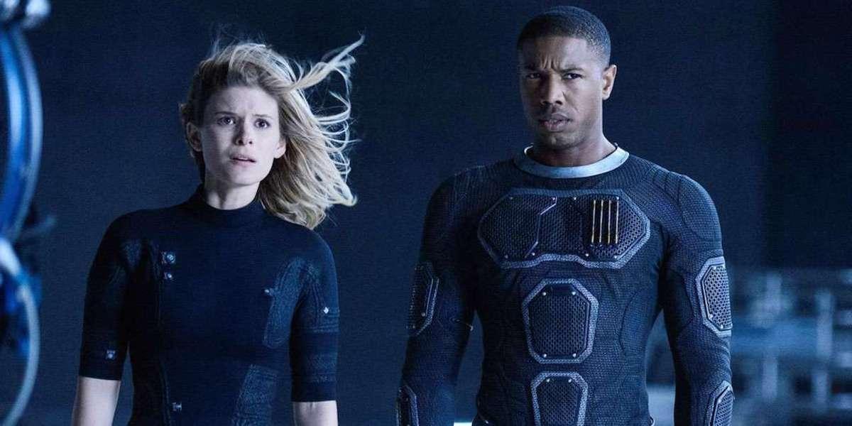 Kate Mara and Michael B. Jordan in Fantastic Four