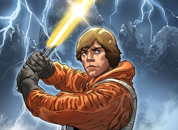 Luke Skywalker gets a new yellow lightsaber this May
