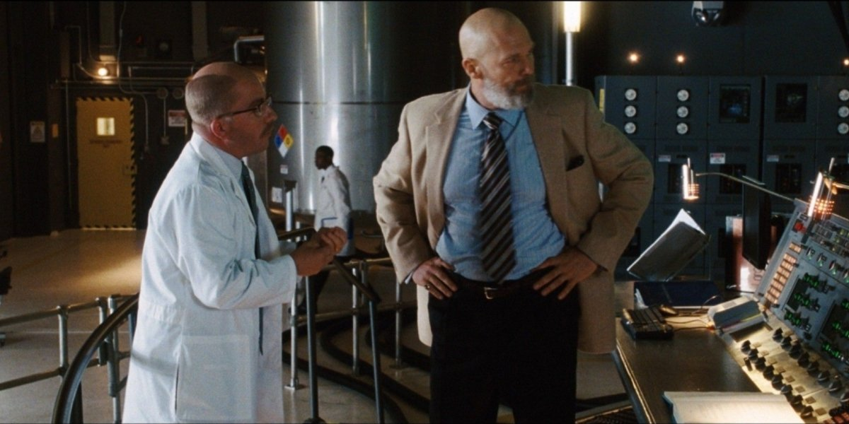 Peter Billingsley and Jeff Bridges in Iron Man