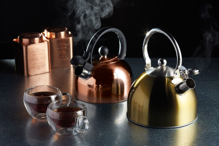 how to clean a kettle: Le'Xpress Copper Finish 1.4 Litre Whistling Kettle