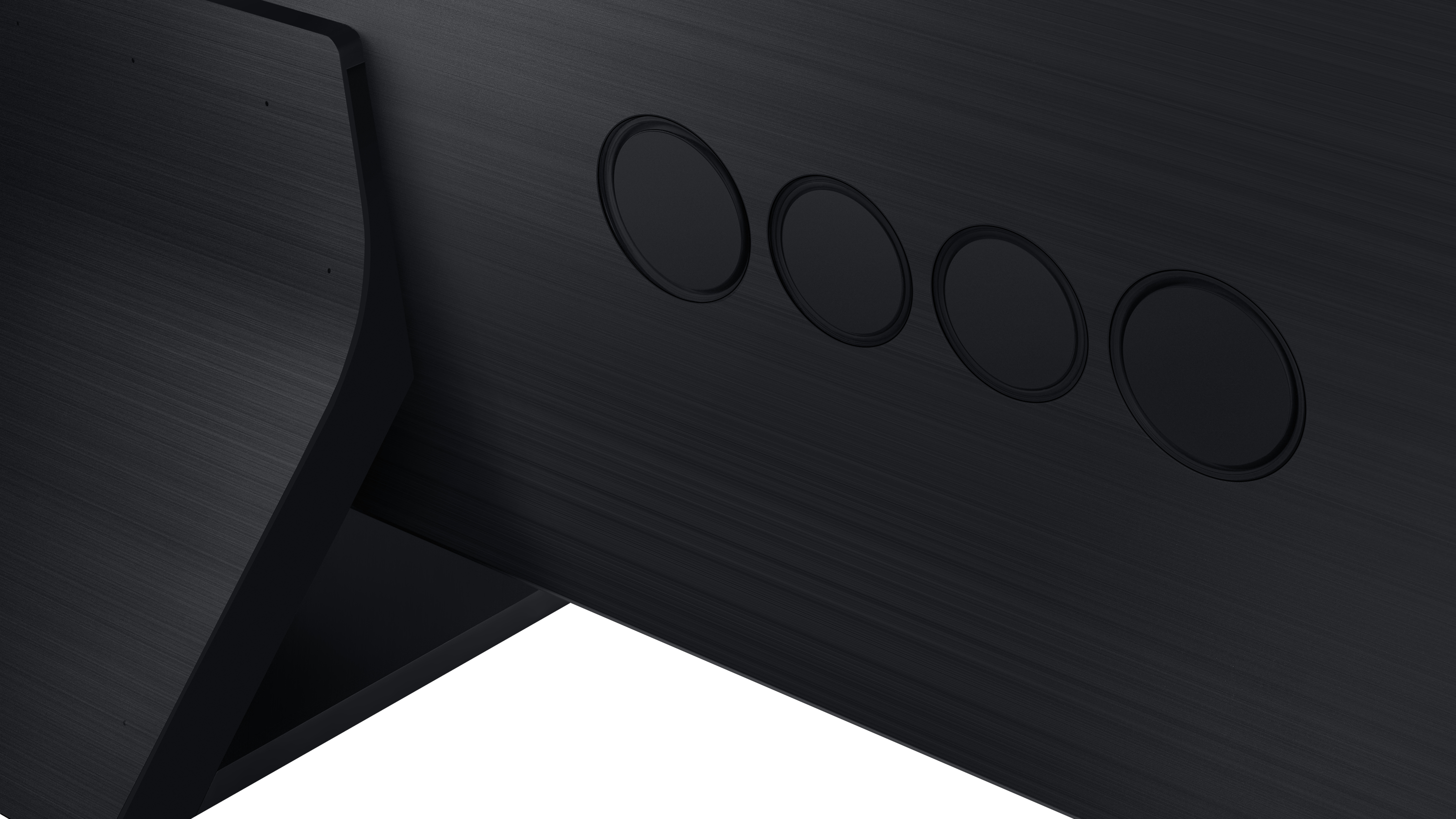 Close-up of the Samsung Q950TS's speakers