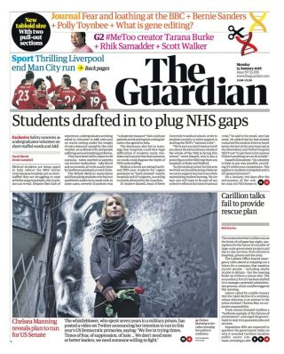 The Guardian cover