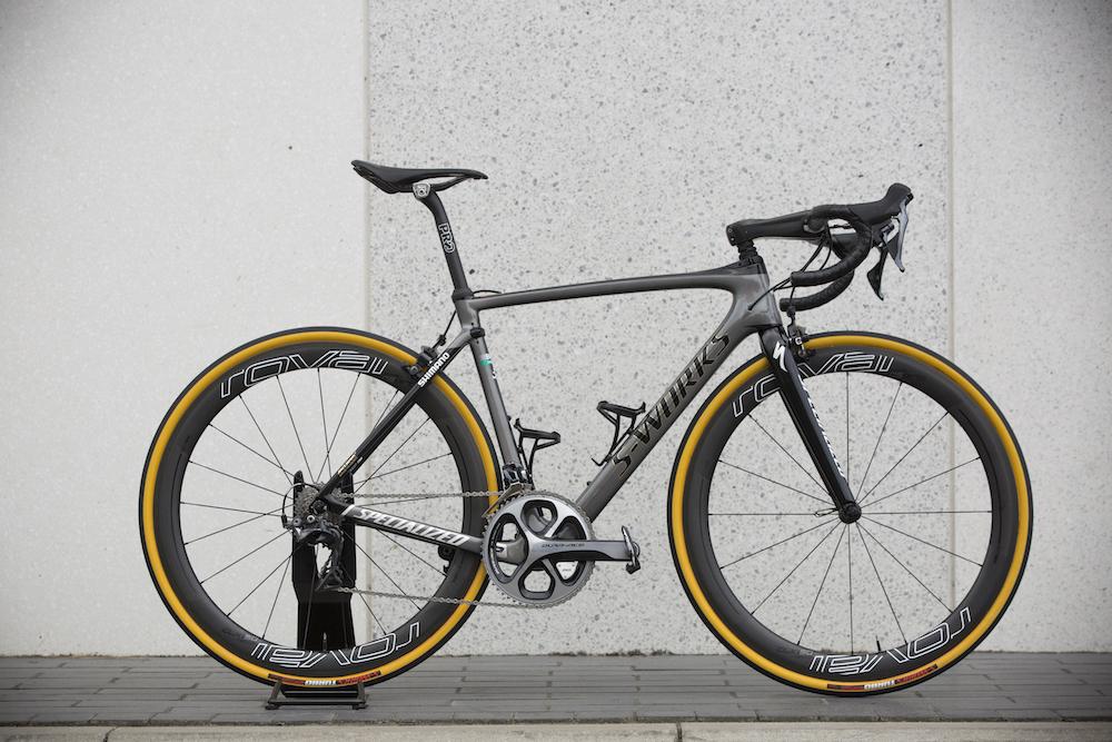 Pro bike: Peter Sagan\'s custom S-Works Roubaix with suspension ...