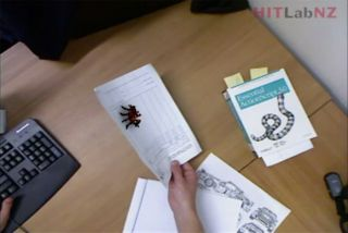 A view of the augmented reality spider phobia treatment program