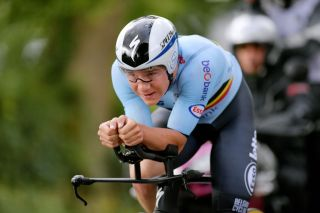 Remco Evenepoel (Belgium) during the men's individual time trial in the Tokyo Olympics