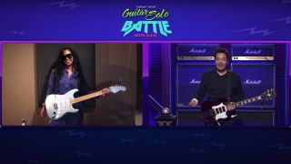 Jimmy Fallon and H.E.R. in best guitar solo battle