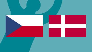 Czech Republic and Denmark flags for Euro 2020