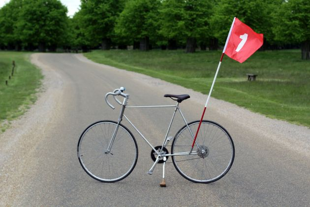 Calum Ray's bike made from golf clubs