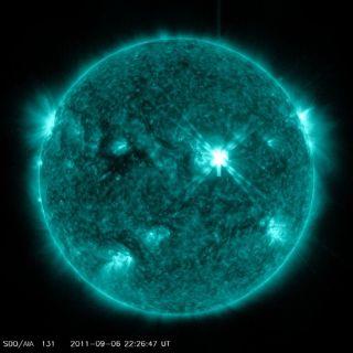 Sun unleashes massive solar flare