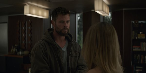 Thor talking to Captain Marvel