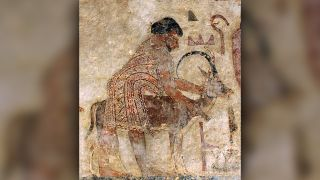 "A man called ""Abisha the Hyksos"" was part of a foreign delegation described in a painting on the tomb of Khnumhotep II (circa 1900 B.C.) This is one of the earliest known uses of the term ""Hyksos."""