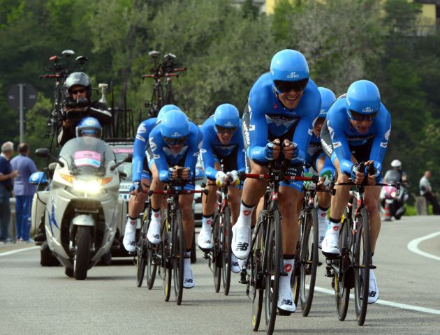 Garmin-Barracuda win, Giro d'Italia 2012, stage 4 TTT