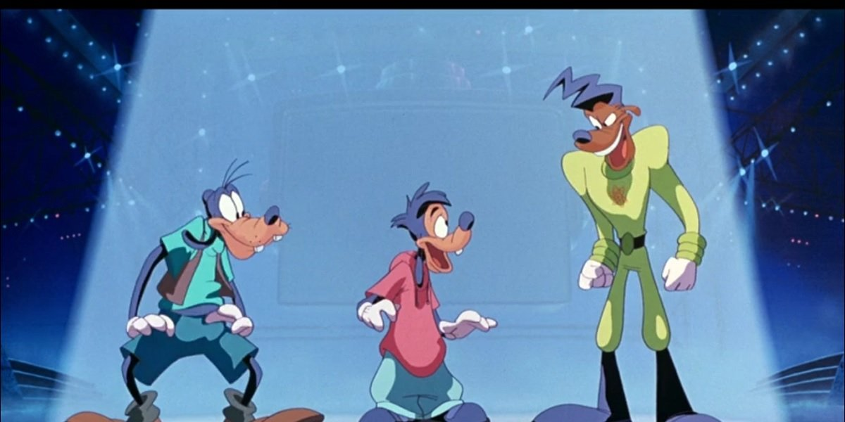 A Goofy Movie still-Max, Goofy, and Powerline dancing