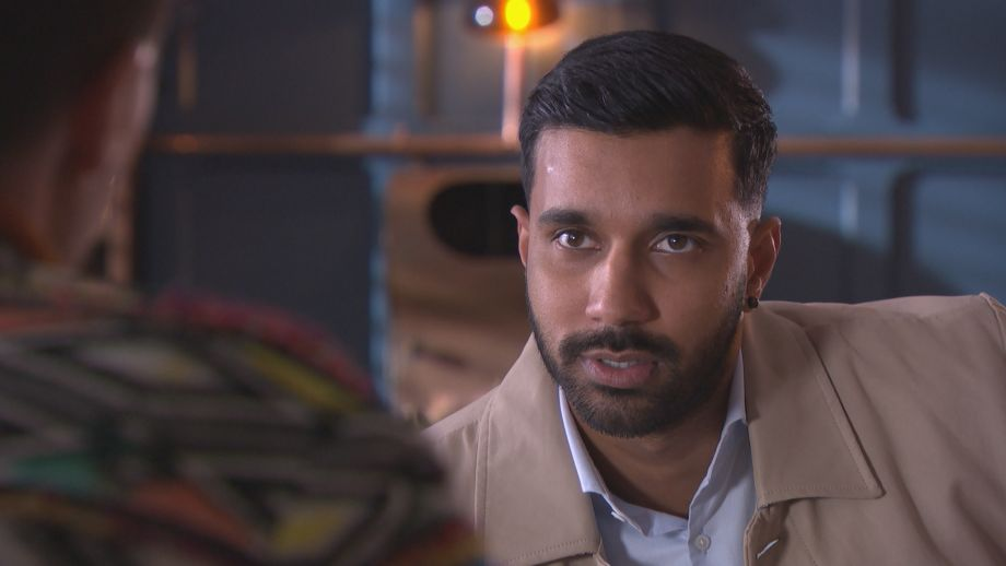 Sami Maalik and Scott Drinkwell in Hollyoaks
