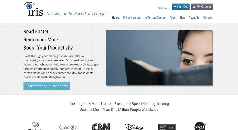 Iris Speed Reading Software Review - Pros and Cons | Top Ten