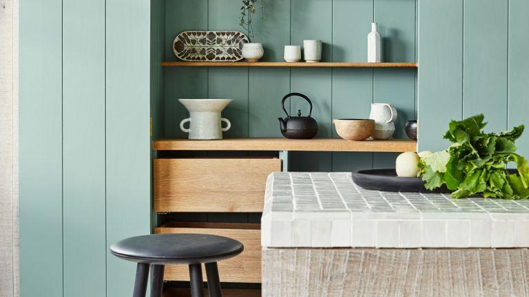 Green and white kitchen ideas