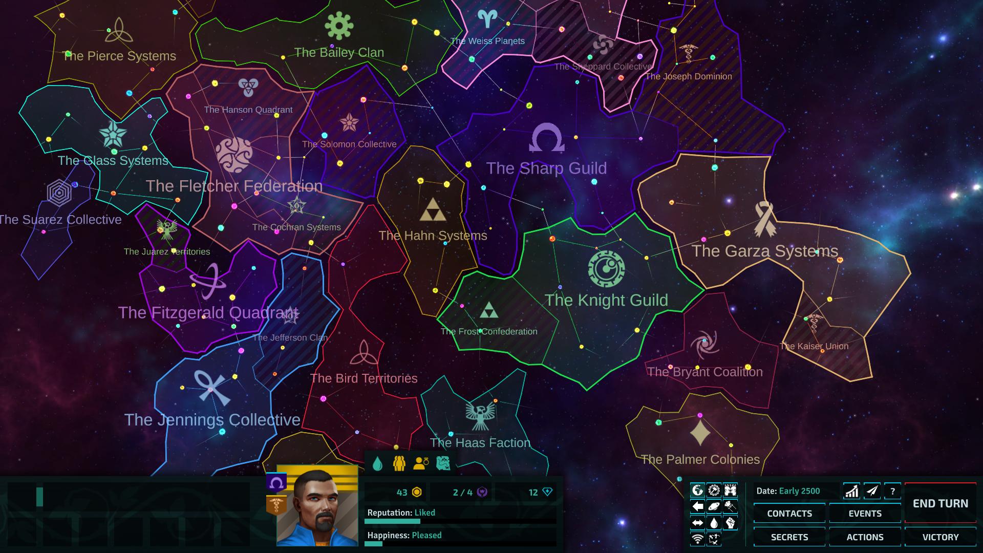 Star Dynasties Galaxy Map