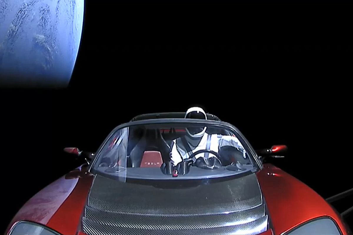 Why Does the Tesla Look So Fake in Space? We Asked a Chemist