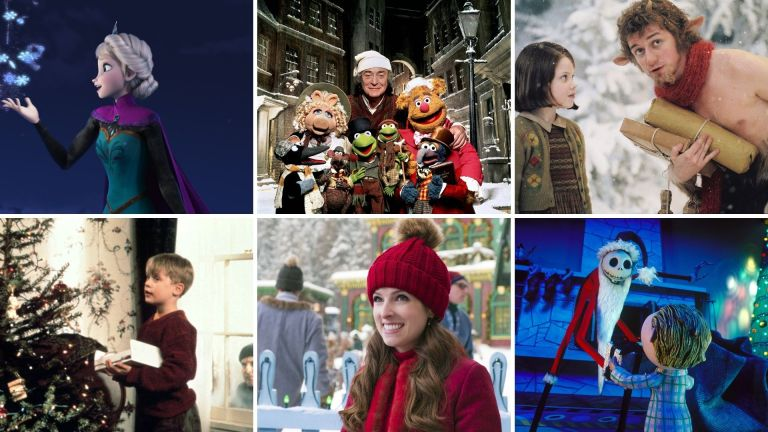 Best Christmas movies on Disney Plus including Frozen, The Muppet Christmas Carol, The Lion, The Witch and The Wardrobe, Home Alone, Noelle and The Nightmare Before Christmas