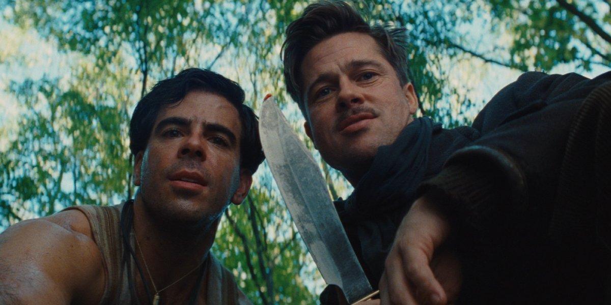 Eli Roth and Brad Pitt in Inglourious Basterds