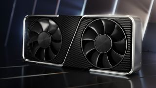Nvidia GeForce RTX 3060 Ti render on a glossy background
