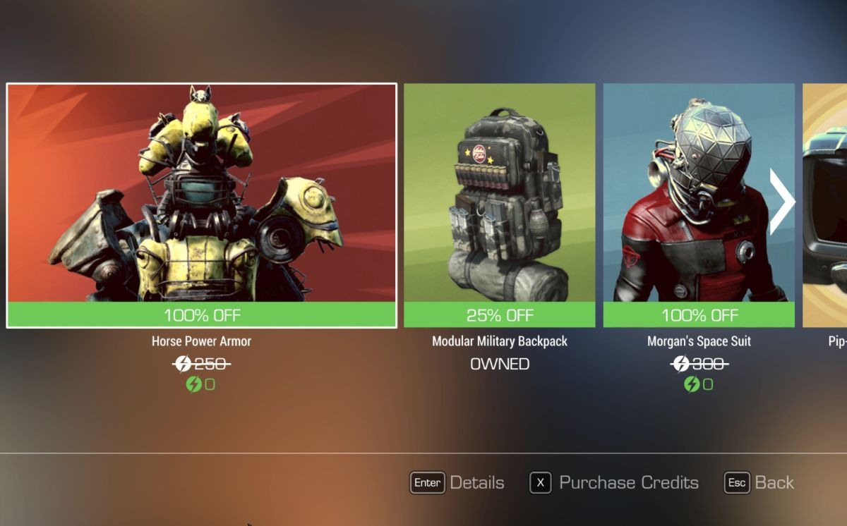 Fallout 4's Creation Club 'horse armor' and Prey space suit
