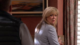 Kim is suspicious of Will in Emmerdale