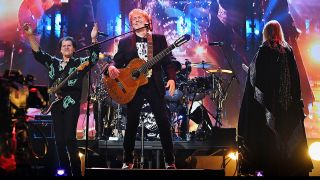 The HOF finally say Yes: Trevor Rabin, Jon Anderson and Rick Wakeman perform at the ceremony in New York.