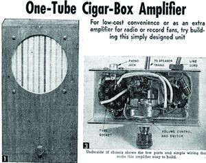 the diy musician build your own one tube amplifier vintage plans from 1954 guitarworld. Black Bedroom Furniture Sets. Home Design Ideas