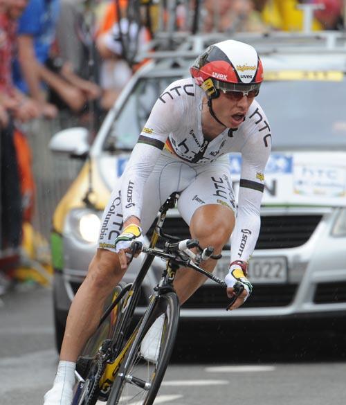 Tony Martin second Tour de France 2010 prologue