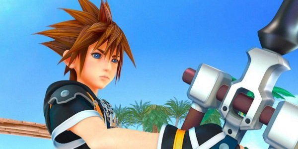 Sora wields a keyblade in Kingdom Hearts III.