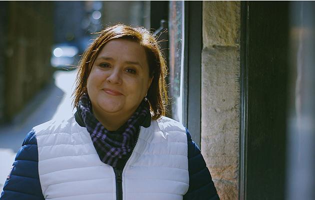 Susan Calman Outside the Niddrie Street vaults where Susan embarks on a ghost tour. Edinburgh