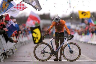 Mathieu van der Poel won the 2020 UCI Cyclo-cross World Championships elite men's race