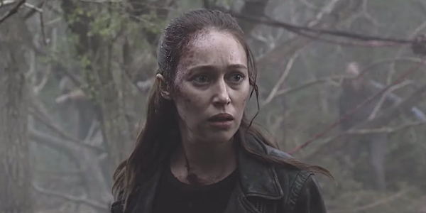 fear the walking dead alicia finding the kids in the woods