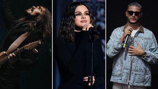 [L-R] Mateus Asato, Selena Gomez and DJ Snake